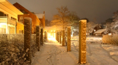 Das Christian Jensen Kolleg im Schnee