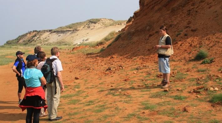 Das Morsum-Kliff gibt Einblick in die Erdgeschichte.