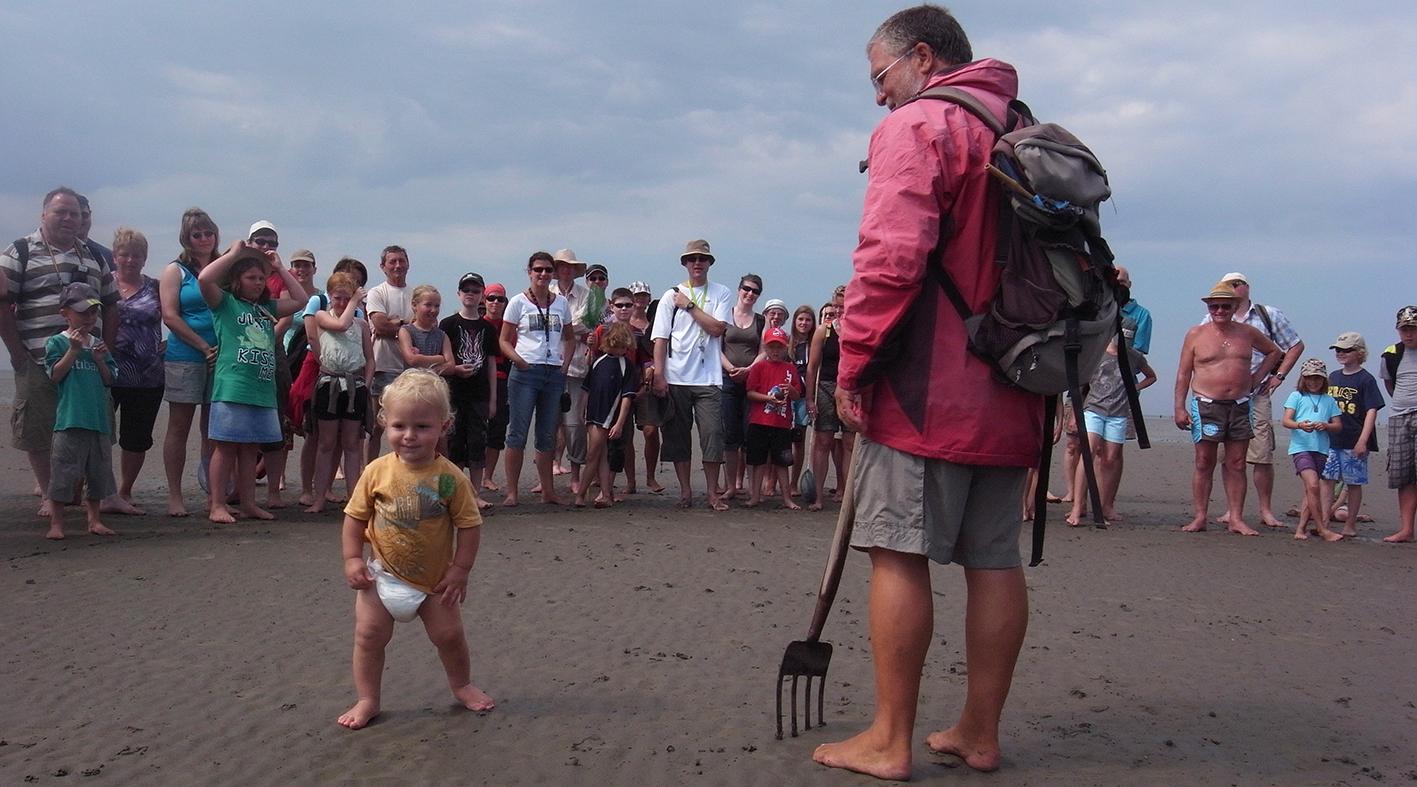 Familienwattführung mit Krabbenfischen
